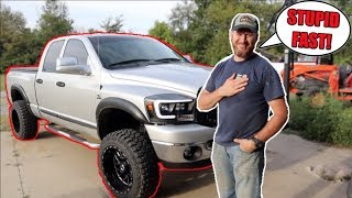 DAD DOES 0-60 LAUNCH IN 600+ HP CUMMINS!!!