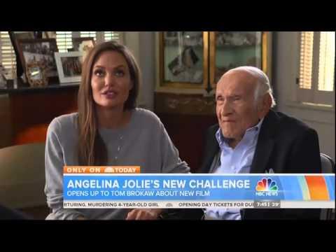 Angelina Jolie and Louis Zamperini talk about Unbroken  Today Show by Tom Brokaw