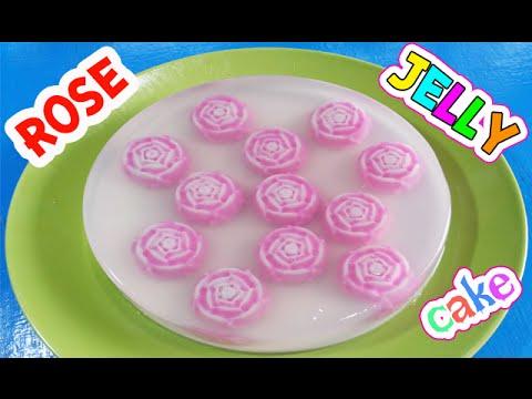 วิธีทำเค้กวุ้นดอกกุหลาบแบบง่ายๆ ใน 1 ชั่วโมง -  How to make Rose jelly cake in 1 hour