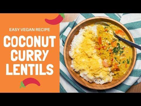 COCONUT CURRY LENTILS / Easy Vegan One-Pot Recipe