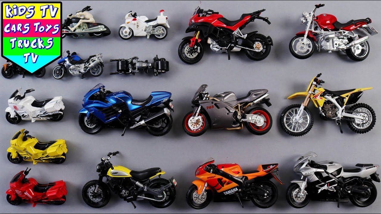 motorcycles learning colors