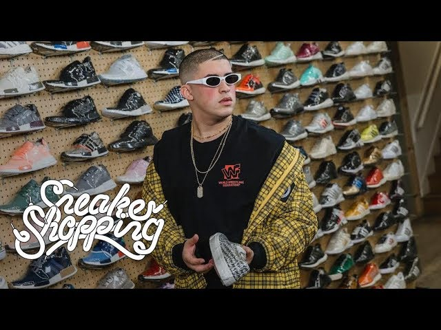 Bad Bunny Goes Sneaker Shopping With