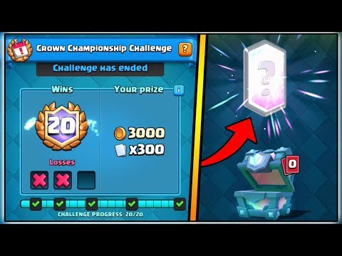 Thumbnail: 20 WINS CROWN CHAMPIONSHIP DECK | CLASH ROYALE | LEGENDARY CHEST OPENING!