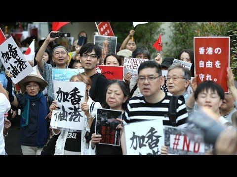 香港がんばれ!SEALDs元メンバーら東京でデモ