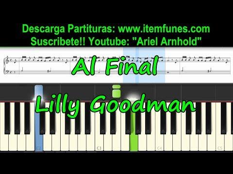 AL FINAL - Piano - Lilly Goodman - Toturial Melodia Descarga Partitura Syntheria midi