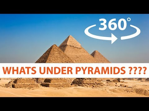 What is Under the Great Pyramids of Giza Egypt 360° VR 4K HD 3D Video