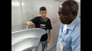 Opinião Prof. Edvaldo (Pintura Automotiva) SENAI Bauru Aplicação Prata Polaris e Verniz 850 Salcomix