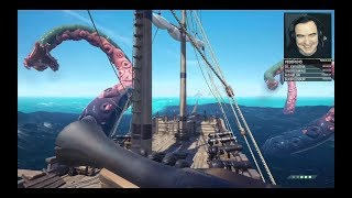 ОНИ ТАКИ ПОЙМАЛИ КРАКЕНА В SEA OF THIEVES ● Артур, Даша, Тема, Таня