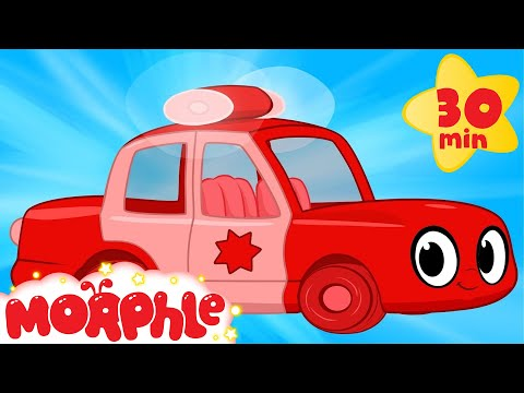 My Magic Police Car - My Magic Pet Morphle Compilation with Police Vehicle Videos for Kids!