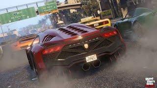 GTA 5 CAR RACE ONLINE - FUNNY MOMENTS , STUNTS, FAILS AND LOT MORE!!!