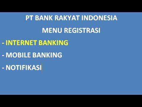 Cara Daftar Internet Banking Bri Youtube