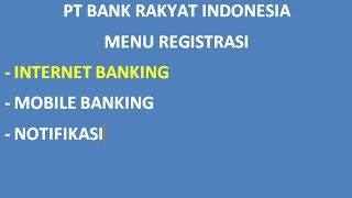 Video Cara Daftar Internet Banking Bri download MP3, 3GP, MP4, WEBM, AVI, FLV November 2018