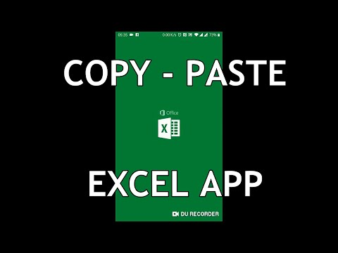 Excel On Mobile - How To Copy Paste