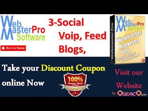 3 - Social, Voip, Feed, Blogs, Forum, Cms Management - Webmaster Pro Software by OseacO.Com