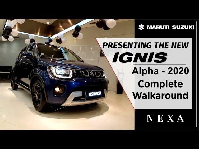 IGNIS 2020 BS6 Alpha - Interior & Exterior   Walkaround