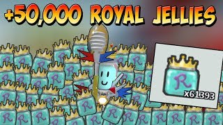 KAUFEN 50.000 ROYAL JELLIES, weil warum nicht!! ( 50BIL HONEY ) - Roblox Bienenschwarm Simulator