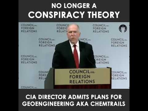 CIA Director admits Geo-enigeering is real