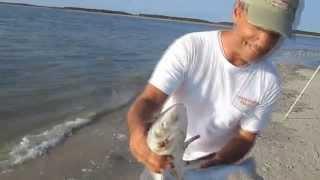Jiggin Jerry Surf Fishing off of Edisto Beach, SC