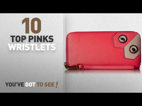 Top 10 Pink Wristlets [ Winter 2018 ]: Fossil Emma Rfid Large Zip Wallet-Neon Coral, Neon Coral Pink
