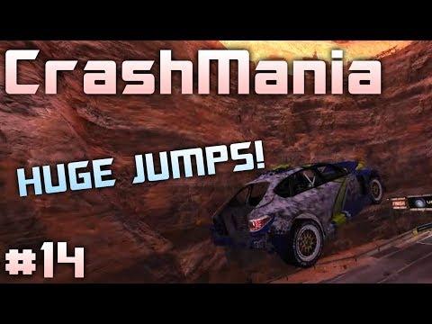CrashMania #14 | HUGE JUMPS! In a Subaru! TrackMania 2: Canyon Platform |
