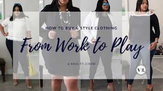 JCREW HAUL & TRY ON | Plus Size Fashion | How To Style Clothing For work & Play |