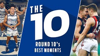 The 10: Best Moments | Round 10, 2018 | AFL