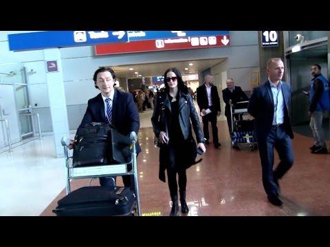 EXCLUSIVE: Eva Green arriving at Paris airport
