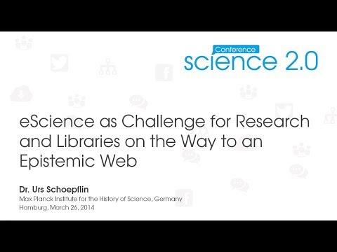 Science 2.0 Conference 2014: Talk Dr Urs Schoepflin