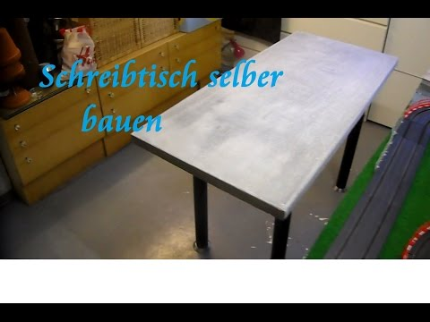 diy tisch aus paletten und beton selber bauen beton schreibtisch tisch bauen anleitung best. Black Bedroom Furniture Sets. Home Design Ideas