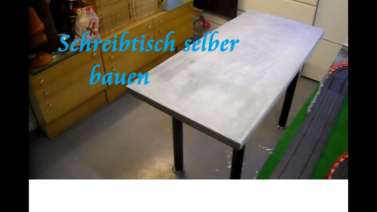 diy tisch aus paletten und beton selber bauen beton schreibtisch tisch bauen anleitung youtube. Black Bedroom Furniture Sets. Home Design Ideas