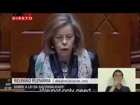 Portuguese nationality Sephardic - Maria de Belem Roseira, Socialist Party