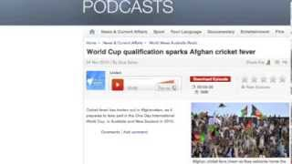 Zara Zaher SBS Radio - Afghan Cricket Team - 2015 World Cup qualification