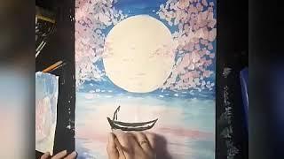 Мастер класс по созданию картины гуашью Розовая сакура
