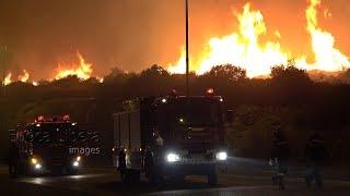 Ολονύχτια μάχη με τις φλόγες στην Ανατολική Αττική