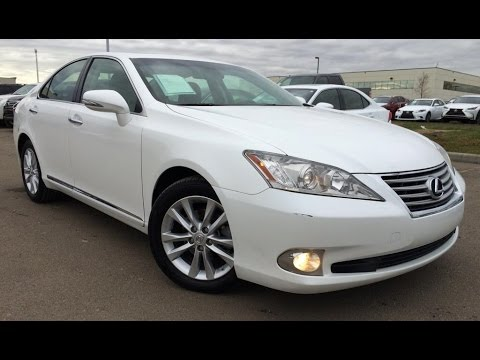 Pre Owned White 2010 Lexus ES 350 Navigation Package Review | Sylvan Lake  Alberta