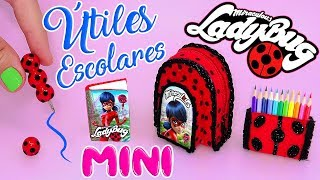 👩��� MINI ÚTILES ESCOLARES de Miraculous Ladybug que ¡¡S� FUNCIONAN!! (Back To School) �👨��✔