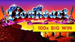 Lionheart Slot - 100x BIG WIN - AWESOME BONUS, YES!