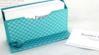 Stampin Up UK Freestanding Business Card Holder Tutorial