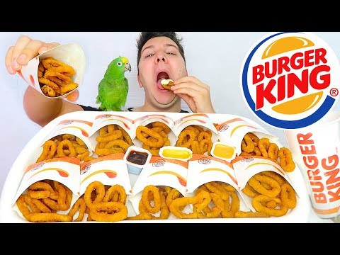 Onion Rings Challenge 먹방 • 5,000 Calorie Burger King • MUKBA