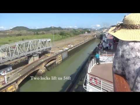 Panama Canal transit by the Celebrity Infinity 28 March 2017