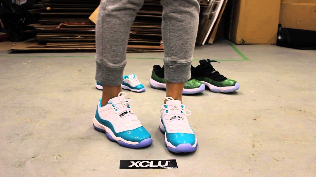 dd678464403346 GS Woman s Air Jordan XI Low - Turbo Green - On-feet Video at Exclucity