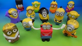 2015 mcdonald s minions movie set of 12 happy meal kids toys video review usa