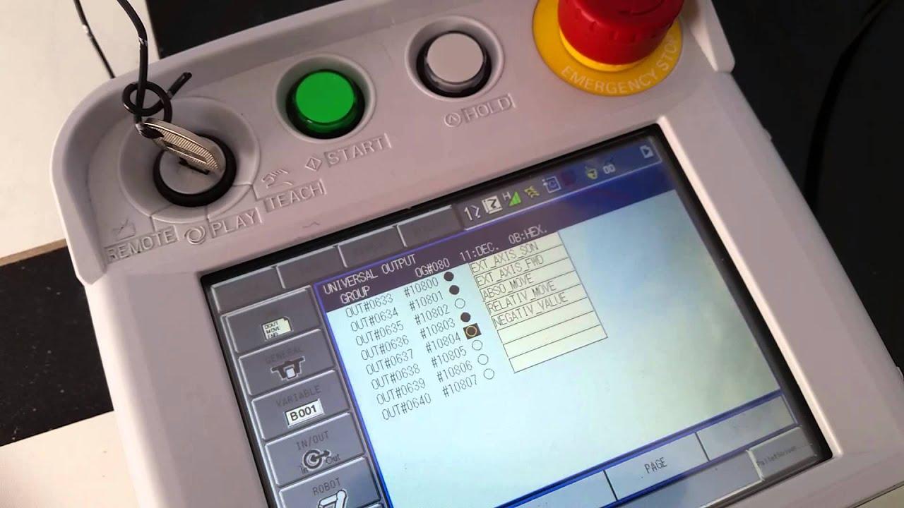 motion works controlled by motoman dx100 youtube rh youtube com Motoman XRC Manual Instruction motoman dx100 basic programming training manual