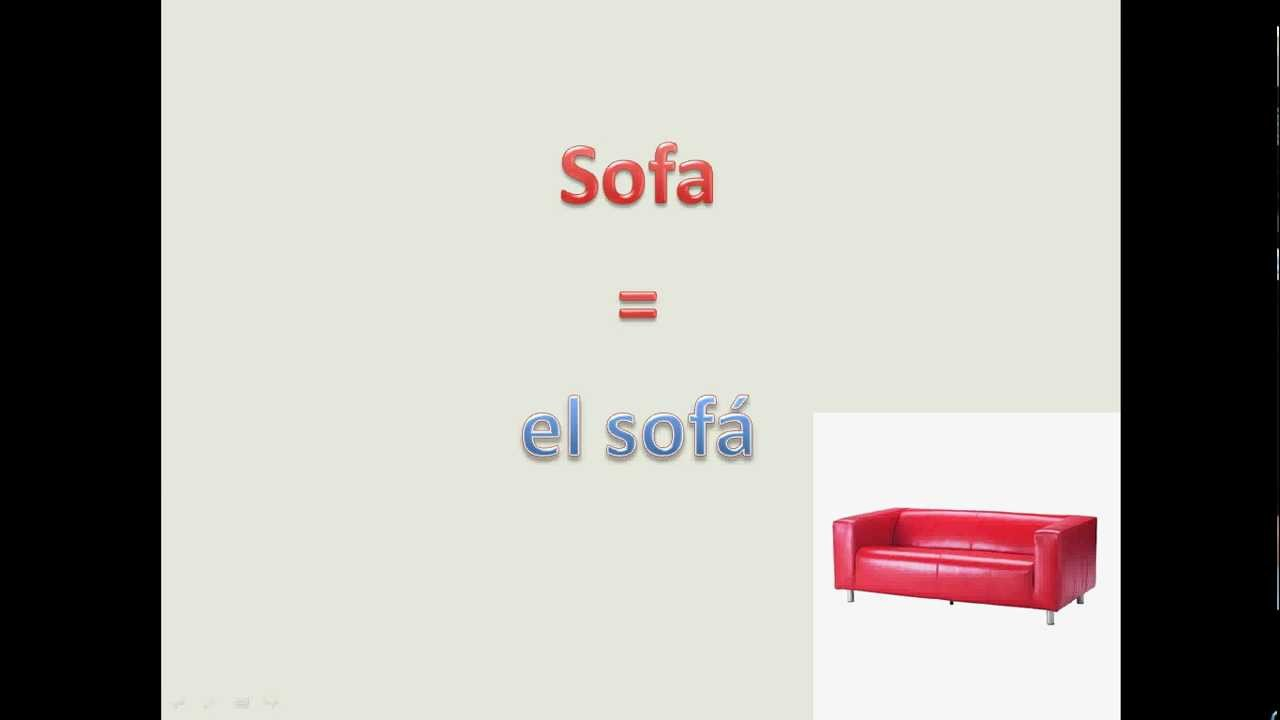 Learn spanish spanish furniture vocabulary youtube Furniture in spanish