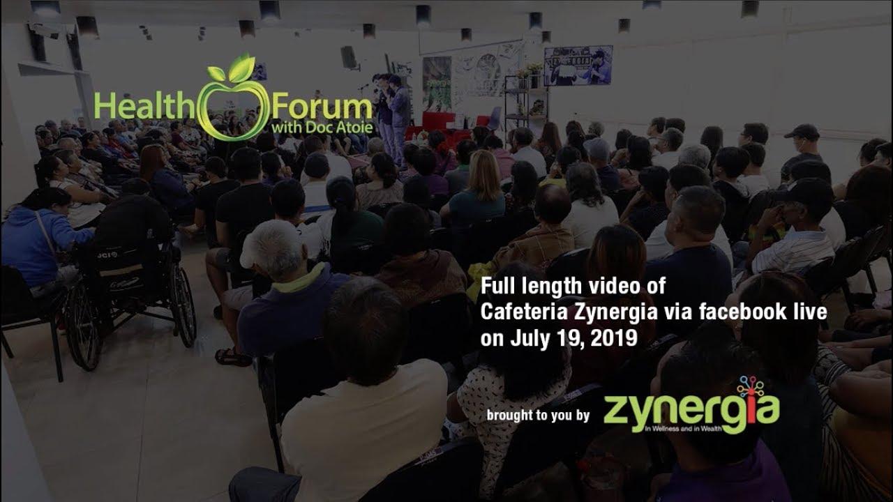 19 July 2019   Cafeteria Zynergia via Facebook Live