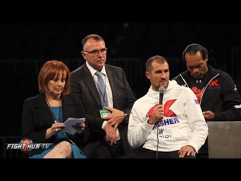Kovalev vs. Ward - Sergey Kovalev 's Full Post Fight Press conference video