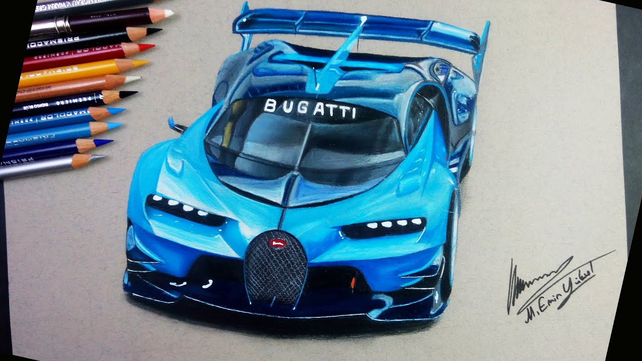Bugatti Vision Gran Turismo çizimi Speed Car Drawing Youtube