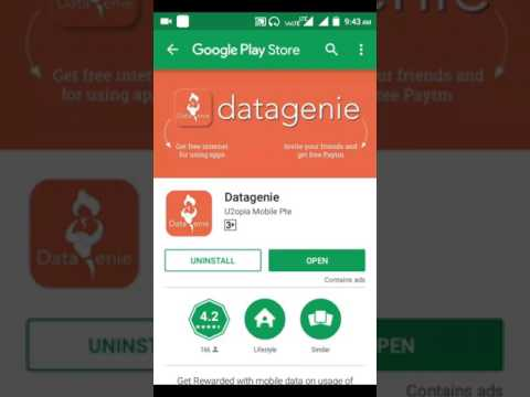 Datagenie app free Paytm cash earn with payment proof Hindi