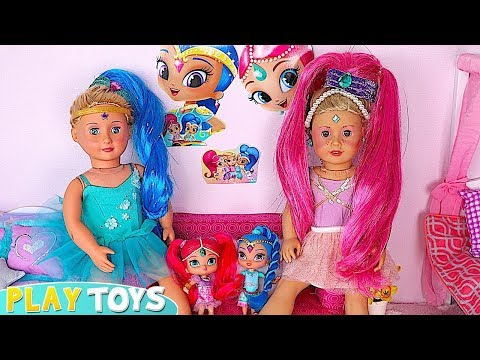 AG Baby Dolls Play Make up and Dress up Toys with Shimmer and Shine🎀