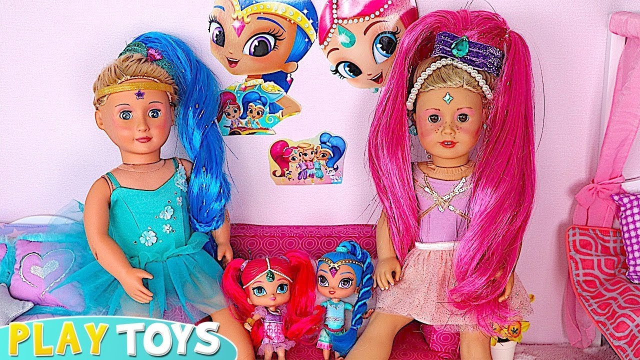 Baby Doll Makeup Dressup Toys Shimmer And Shine Youtube